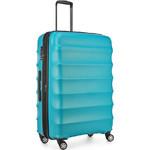Antler Juno Metallic DLX Large 79cm Hardside Suitcase Teal 71015