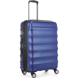 Antler Juno Metallic DLX Medium 68cm Hardside Suitcase Blue 71016