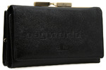 Cellini Tuscany Leather Purse Black TA052