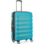 Antler Juno Metallic DLX Medium 68cm Hardside Suitcase Teal 71016