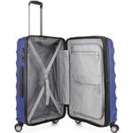 Antler Juno Metallic DLX Medium 68cm Hardside Suitcase Blue 71016 - 3