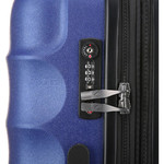 Antler Juno Metallic DLX Medium 68cm Hardside Suitcase Blue 71016 - 4