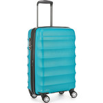 Antler Juno Metallic DLX Small/Cabin 56cm Hardside Suitcase Teal 71258