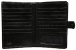 Cellini Ladies' Tuscany Large Book Leather Wallet Black TA074 - 3