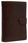Cellini Ladies' Tuscany Large Book Leather Wallet Brandy TA074