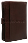 Cellini Ladies' Tuscany Large Book Leather Wallet Brandy TA074 - 1