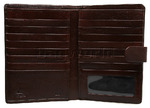 Cellini Ladies' Tuscany Large Book Leather Wallet Brandy TA074 - 3