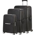 Samsonite Magnum Hardside Suitcase Set of 3 Black 09504, 09505, 09506 with FREE Samsonite Luggage Scale 34042