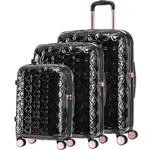 Samsonite Theoni Hardside Suitcase Set of 3 Black 10436, 10435, 10433 with FREE Samsonite Luggage Scale 34042
