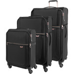 Samsonite Uplite SPL Softside Suitcase Set of 3 Black 80247, 80246, 80245 with FREE Samsonite Luggage Scale 34042