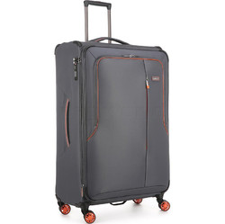 Antler Clarendon Large 82cm Softside Suitcase Grey 45815
