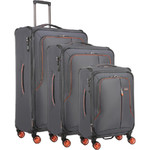 Antler Clarendon Softside Suitcase Set of 3 Grey 45858, 45816, 45815 with FREE GO Travel Luggage Scale G2006