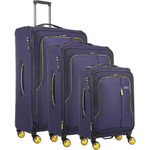 Antler Clarendon Softside Suitcase Set of 3 Purple 45858, 45816, 45815 with FREE GO Travel Luggage Scale G2006