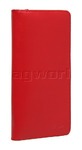 Artex Monaco Leather Passport Wallet Red 40817