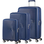 American Tourister Curio Hardside Suitcase Set of 3 Navy 87999, 86229, 86230 with FREE Samsonite Luggage Scale 34042