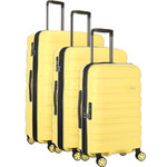 Antler Juno 2 Hardside Suitcase Set of 3 Yellow 42215, 42216, 42219 with FREE GO Travel Luggage Scale G2006