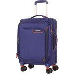 American Tourister Applite 4 Security Small/Cabin 55cm Softside Suitcase Bodega Blue 30960