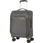 American Tourister Applite 4 Security Small/Cabin 55cm Softside Suitcase Lightning Grey 30960