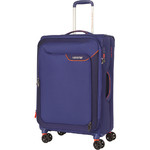 American Tourister Applite 4 Security Medium 71cm Softside Suitcase Bodega Blue 30961