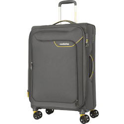 American Tourister Applite 4 Security Medium 71cm Softside Suitcase Lightning Grey 30961