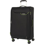 American Tourister Applite 4 Security Large 82cm Softside Suitcase Black 30962