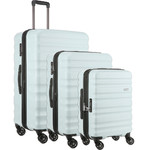 Antler Clifton Hardside Suitcase Set of 3 Light Blue 45719, 45716, 45715 with FREE GO Travel Luggage Scale G2006