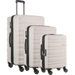 Antler Clifton Hardside Suitcase Set of 3 Taupe 45719, 45716, 45715 with FREE GO Travel Luggage Scale G2006