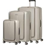 Samsonite Prodigy Hardside Suitcase Set of 3 Ivory Gold 74770, 22760, 22761 with FREE Samsonite Luggafe Scale 34042