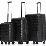 Qantas Narita Hardside Suitcase Set of 3 Black 68055, 68066, 68076 with FREE GO Travel Luggage Scale G2006