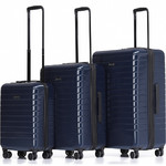 Qantas Narita Hardside Suitcase Set of 3 Navy 68055, 68066, 68076 with FREE GO Travel Luggage Scale G2006