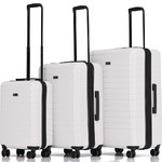Qantas Narita Hardside Suitcase Set of 3 Sand 68055, 68066, 68076 with FREE GO Travel Luggage Scale G2006