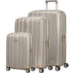 Samsonite Lite-Cube Prime Hardside Suitcase Set of 3 Matt Ivory Gold 15672, 15675, 15676 with FREE Samsonite Luggage Scale 34042