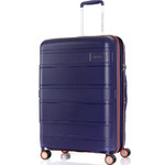 American Tourister Litevlo Medium 69cm Hardside Suitcase Bodega Blue 31505