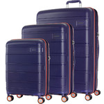 American Tourister Litevlo Hardside Suitcase Set of 3 Bodega Blue 31504, 31505, 31506 with FREE Samsonite Luggage Scale 34042