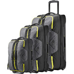 High Sierra Dells Canyon Wheel Duffle Set of 3 Mercury 27709, 27710, 27711 with FREE Samsonite Luggage Scale 34042