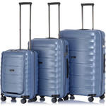 Qantas Dallas Hardside Suitcase Set of 3 Blue 38055, 38065, 38075 with FREE GO Travel Luggage Scale G2006