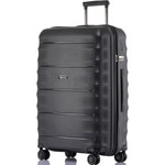 Qantas Dallas Large 75cm Hardside Suitcase Black 38075
