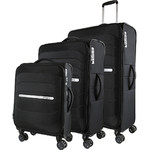 Samsonite Octolite SS Softside Suitcase Set of 3 Black 30274, 30273, 30272 with FREE Samsonite Luggage Scale 34042