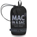 Mac In A Sac Packable Waterproof Unisex Overtrousers Extra Small Black OXS - 3