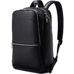 "Samsonite Classic Leather 14.1"" Laptop & Tablet Slim Backpack Black 26036"