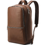 "Samsonite Classic Leather 14.1"" Laptop & Tablet Slim Backpack Cognac 26036"