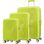 American Tourister Curio Hardside Suitcase Set of 3 Lime Punch 87999, 86229, 86230 with FREE Samsonite Luggage Scale 34042