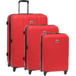 CAT Turbo Hardside Suitcase Set of 3 Red 83087, 83088, 83089 with FREE GO Travel Luggage Scale G2006