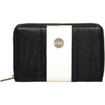 Eve Erin Supersize Zip Around RFID Blocking Wallet White Trim EW010