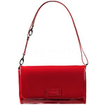 Lipault Plume Vinyl Clutch Bag Ruby 77813