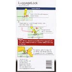 LuggageLock Tamper Evident Security Seal 10 Pack Orange LLOCK - 1