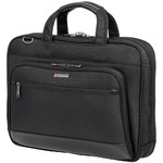 "Qantas Business 16"" Laptop & Tablet Slim Briefcase Black QF2"