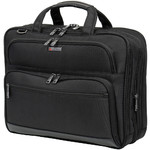 "Qantas Business 16"" Laptop & Tablet Travel Briefcase Black QF1"