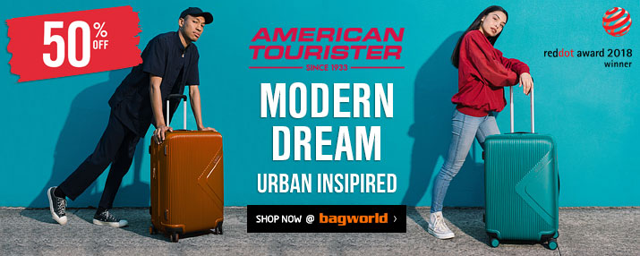 American Tourister Modern Dream Luggage @ Bagworld