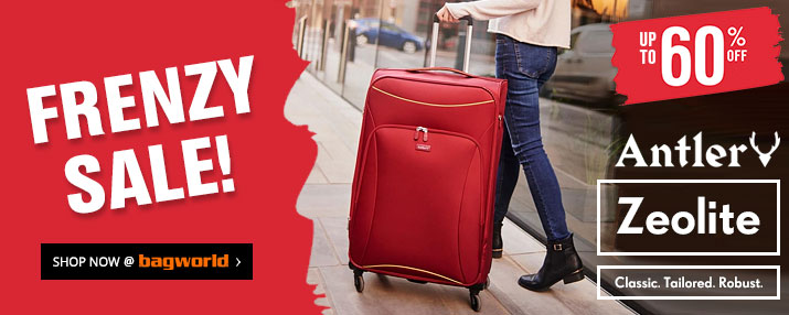 FRENZY SALE @ Bagworld - Bags & Luggage Up To 60% Off!